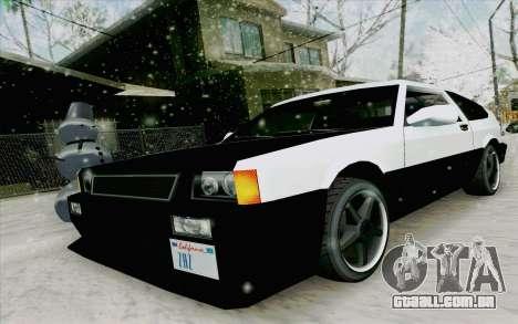 Blista Compact Type R para GTA San Andreas esquerda vista
