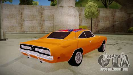 Dodge Charger 1969 (general lee) para GTA San Andreas vista direita