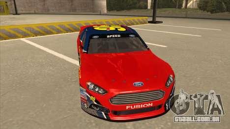 Ford Fusion NASCAR No. 95 para GTA San Andreas esquerda vista