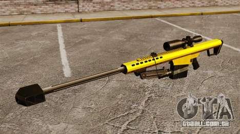 O Barrett M82 sniper rifle v3 para GTA 4 terceira tela