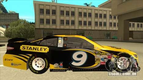Ford Fusion NASCAR No. 9 Stanley DeWalt para GTA San Andreas traseira esquerda vista