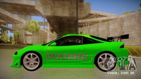 Mitsubishi Eclipse GSX 1996 [WAD]HD para GTA San Andreas traseira esquerda vista