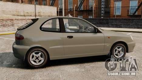 Daewoo Lanos 1997 PL para GTA 4 esquerda vista