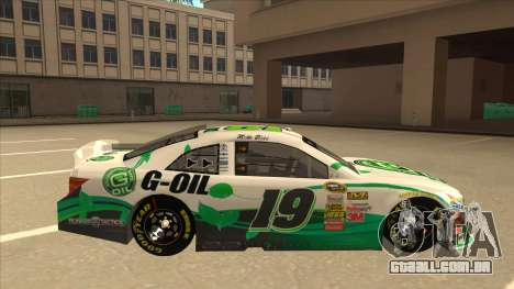Toyota Camry NASCAR No. 19 G-Oil para GTA San Andreas traseira esquerda vista