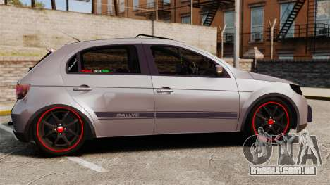 Volkswagen Gol Rally 2012 Socado Turbo para GTA 4 esquerda vista