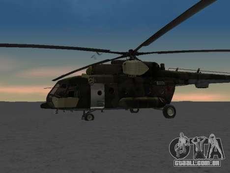 MI-8 para GTA San Andreas vista inferior