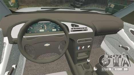 Vaz-2123 v 1.1 para GTA 4 vista interior