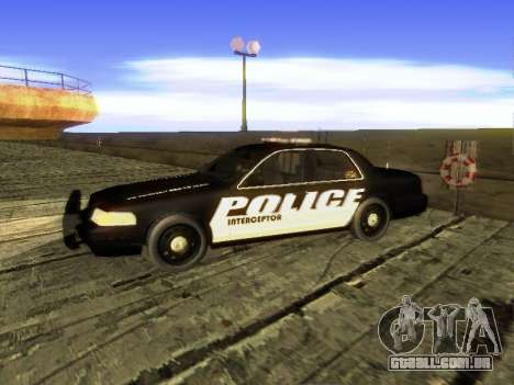 Ford Crown Victoria Police Interceptor para GTA San Andreas esquerda vista