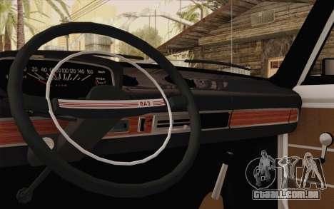 VAZ 21011 assistência médica para GTA San Andreas vista interior