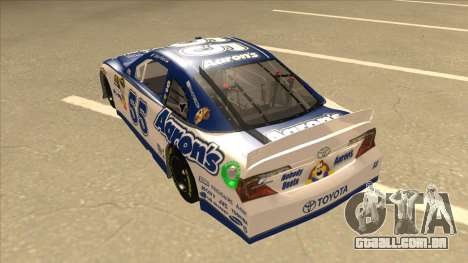 Toyota Camry NASCAR No. 55 Aarons DM white-blue para GTA San Andreas vista traseira