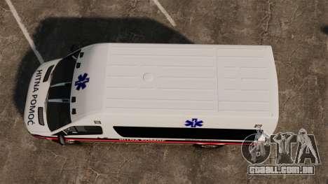 Mercedes-Benz Sprinter Zagreb Ambulance [ELS] para GTA 4 vista direita