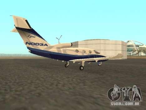 A vitória épica do Microsoft Flight Simulator para GTA San Andreas esquerda vista