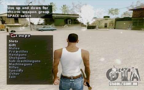 Weapons Menu Mod para GTA San Andreas