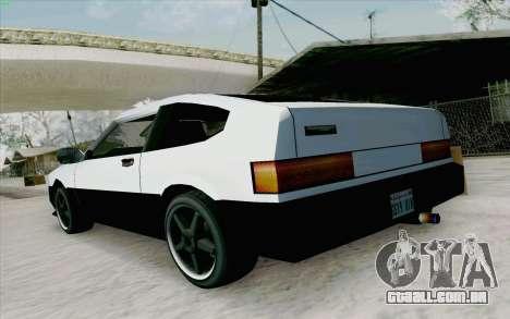 Blista Compact Type R para GTA San Andreas vista direita