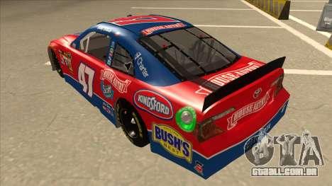 Toyota Camry NASCAR No. 47 House-Autry para GTA San Andreas vista traseira