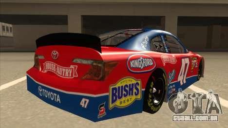Toyota Camry NASCAR No. 47 House-Autry para GTA San Andreas vista direita