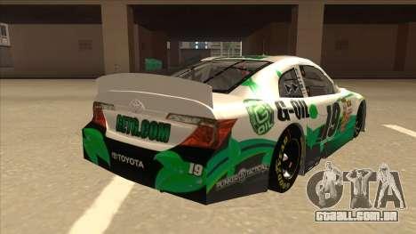 Toyota Camry NASCAR No. 19 G-Oil para GTA San Andreas vista direita