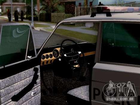 Polícia de Los Santos VAZ 2106 para o motor de GTA San Andreas