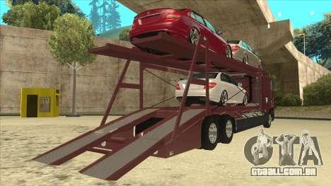 International 9700 Car Hauler para GTA San Andreas vista direita