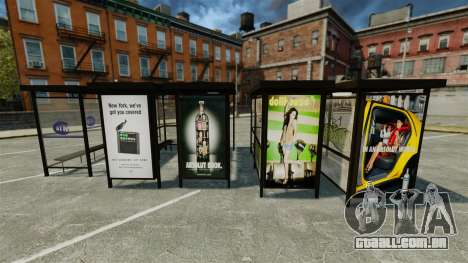 Real publicidade nas paragens de autocarro para GTA 4