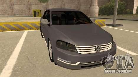 Volkswagen Passat 2.0 Turbo para GTA San Andreas esquerda vista