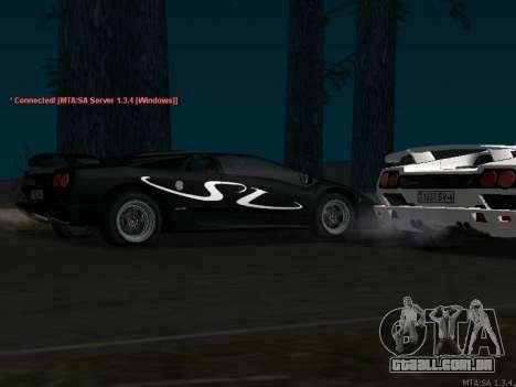 Lamborghini Diablo SV v2 para GTA San Andreas traseira esquerda vista