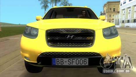 Hyundai Santa Fe 2006 para GTA Vice City vista traseira