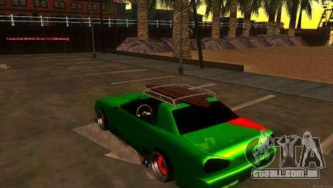 Elegy New Year for JDM para GTA San Andreas vista direita