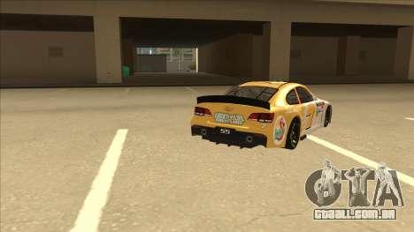 Chevrolet SS NASCAR No. 7 Florida Lottery para GTA San Andreas vista direita