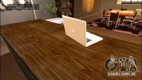 O MacBook Air para GTA 4 terceira tela