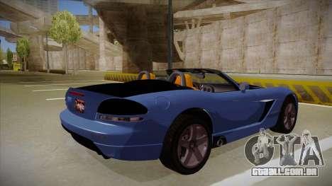 Dodge Viper v1 para GTA San Andreas vista direita