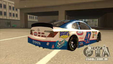Toyota Camry NASCAR No. 47 Kingsford para GTA San Andreas vista direita