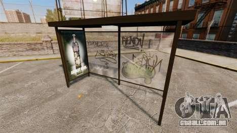 Real publicidade nas paragens de autocarro para GTA 4 terceira tela