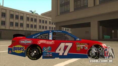 Toyota Camry NASCAR No. 47 House-Autry para GTA San Andreas traseira esquerda vista