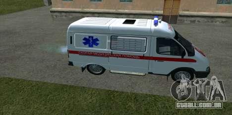 GÁS 22172 ambulância para GTA San Andreas esquerda vista