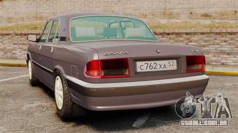 Volga GAZ-3110 para GTA 4 traseira esquerda vista