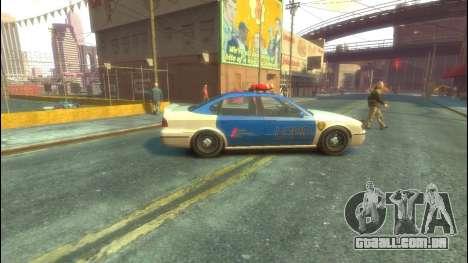 Polícia de GTA 5 para GTA 4 traseira esquerda vista