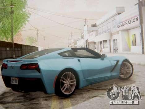 Chevrolet Corvette C7 Stingray 2014 para GTA San Andreas traseira esquerda vista