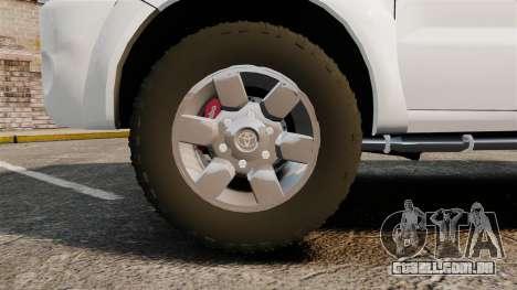 Toyota Hilux Croatian Police v2.0 [ELS] para GTA 4 vista de volta