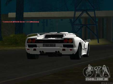 Lamborghini Diablo SV v2 para vista lateral GTA San Andreas