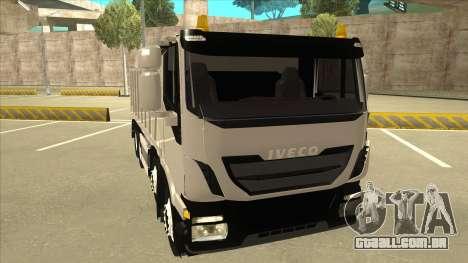 Oi-terra caminhão Iveco para GTA San Andreas esquerda vista