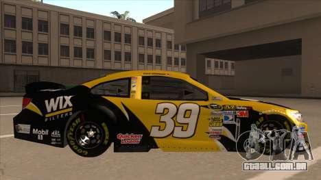 Chevrolet SS NASCAR No. 39  Wix Filters para GTA San Andreas traseira esquerda vista