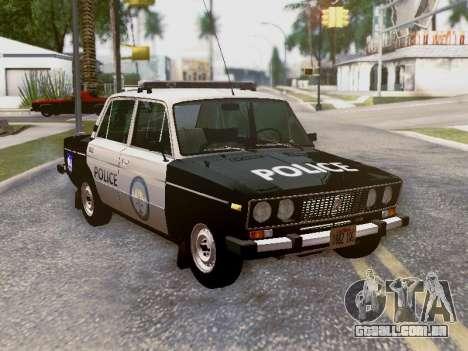 Polícia de Los Santos VAZ 2106 para GTA San Andreas interior