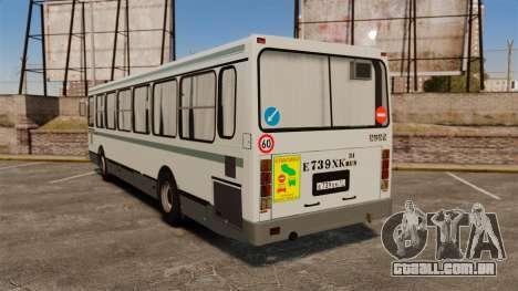 LIAZ-5256 45-01 para GTA 4 traseira esquerda vista