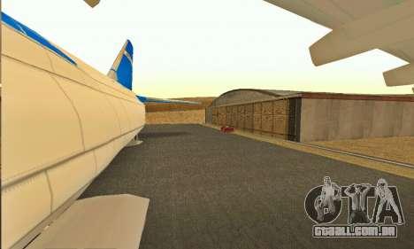 Andromada GTA V para GTA San Andreas vista traseira