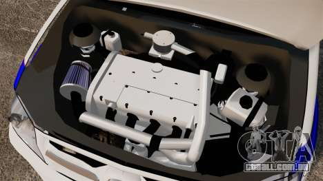 Toyota Hilux Croatian Police v2.0 [ELS] para GTA 4 vista interior