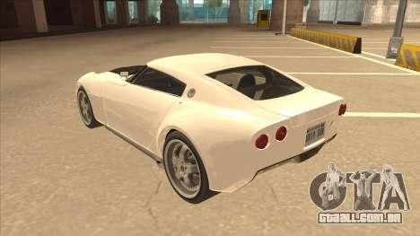 Melling Hellcat para GTA San Andreas vista traseira