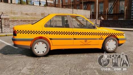 Peugeot 405 GLX Taxi para GTA 4 esquerda vista
