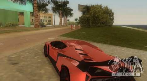 Lamborghini Veneno para GTA Vice City vista direita