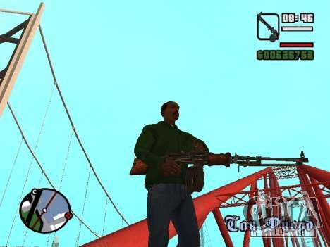 Light machine gun (RAP) [carece de fontes?] para GTA San Andreas terceira tela